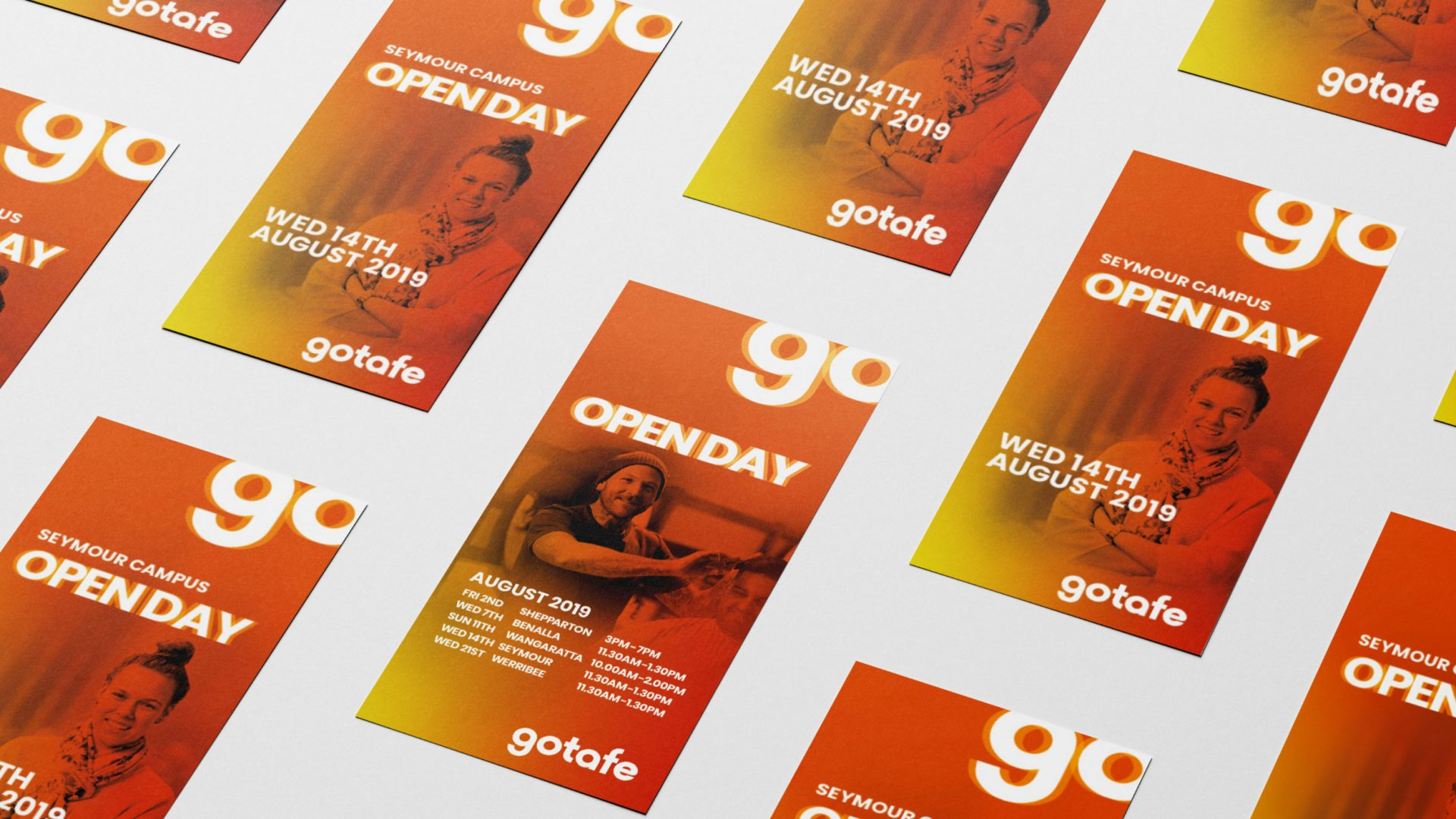 Open day flyers for gotafe