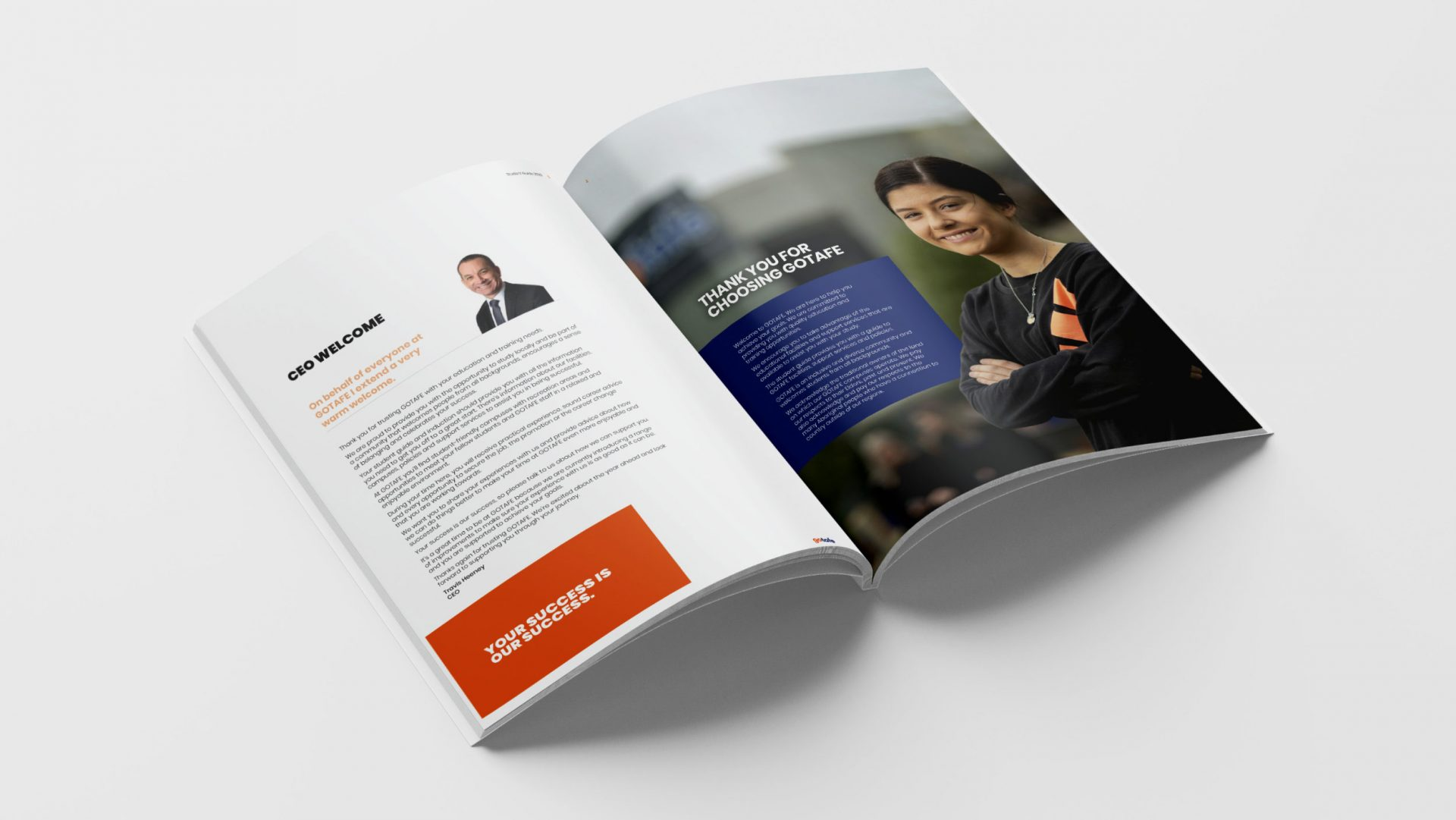 2020 Student Guide spread for gotafe
