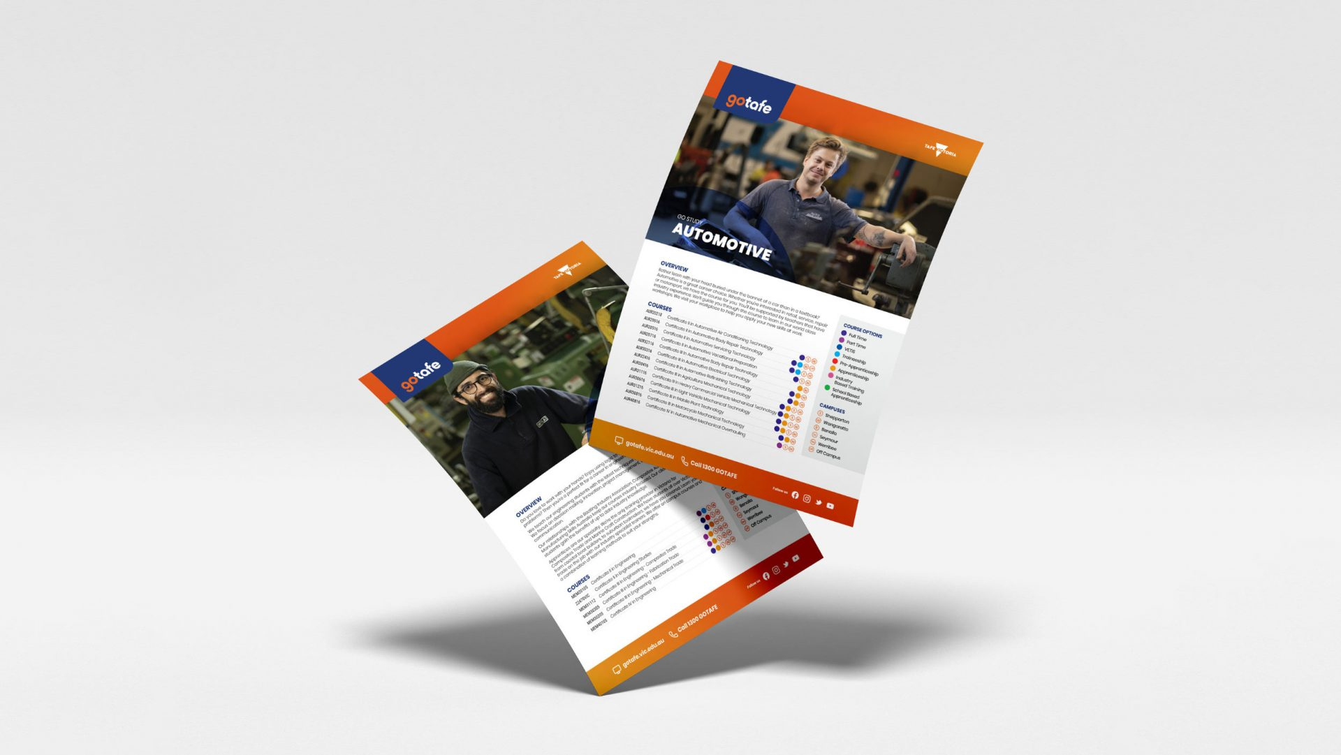 Single page course guides for gotafe