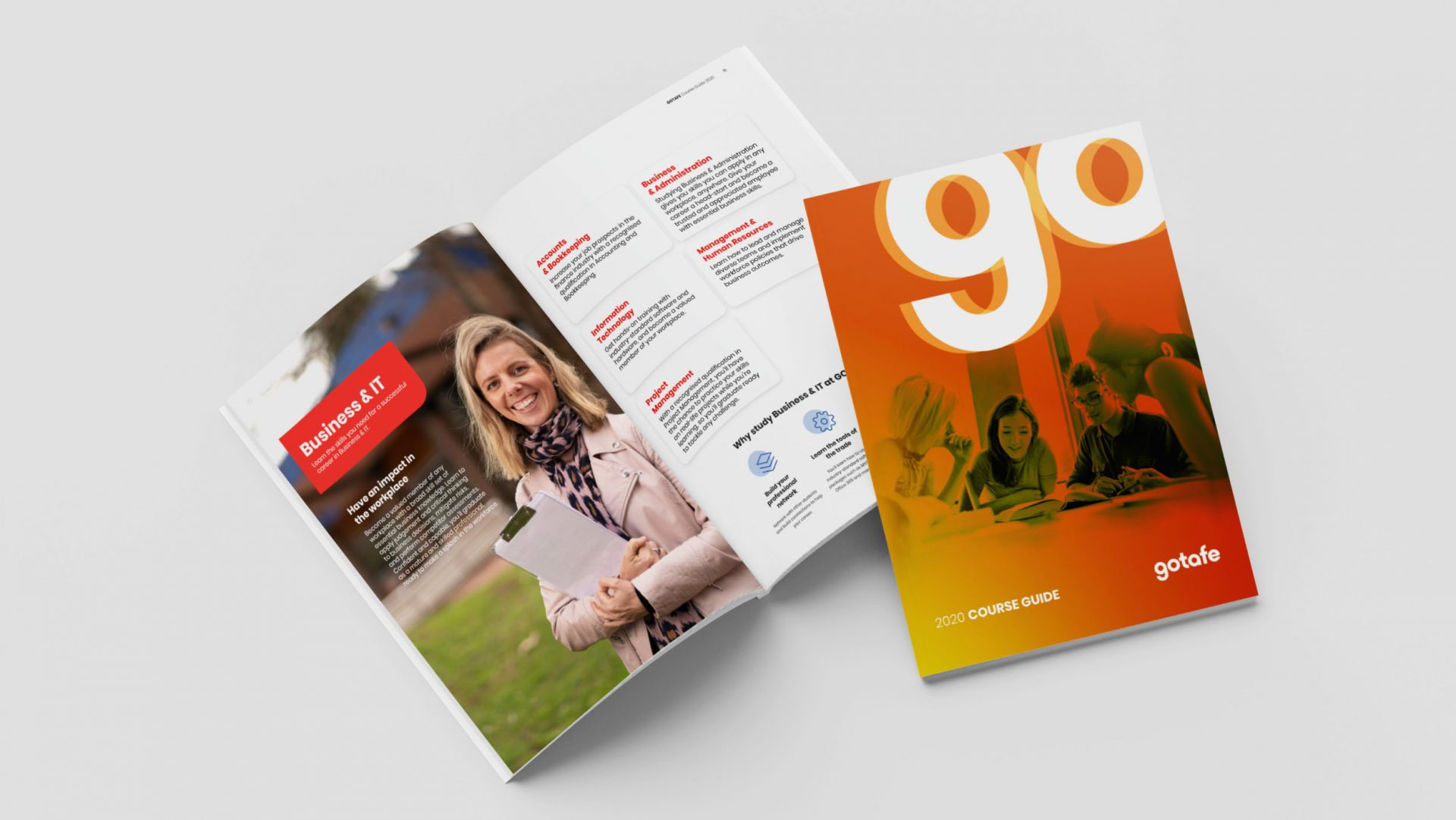 gotafe course guide cover and spread