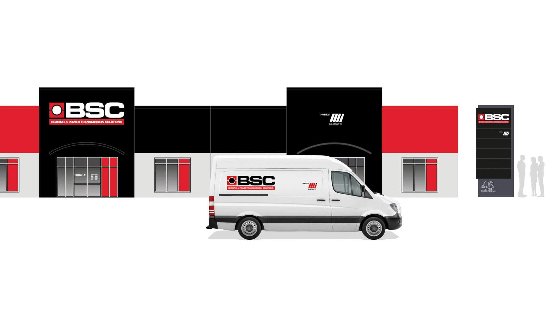 BSC exterior and vehicle signage for existing buildings