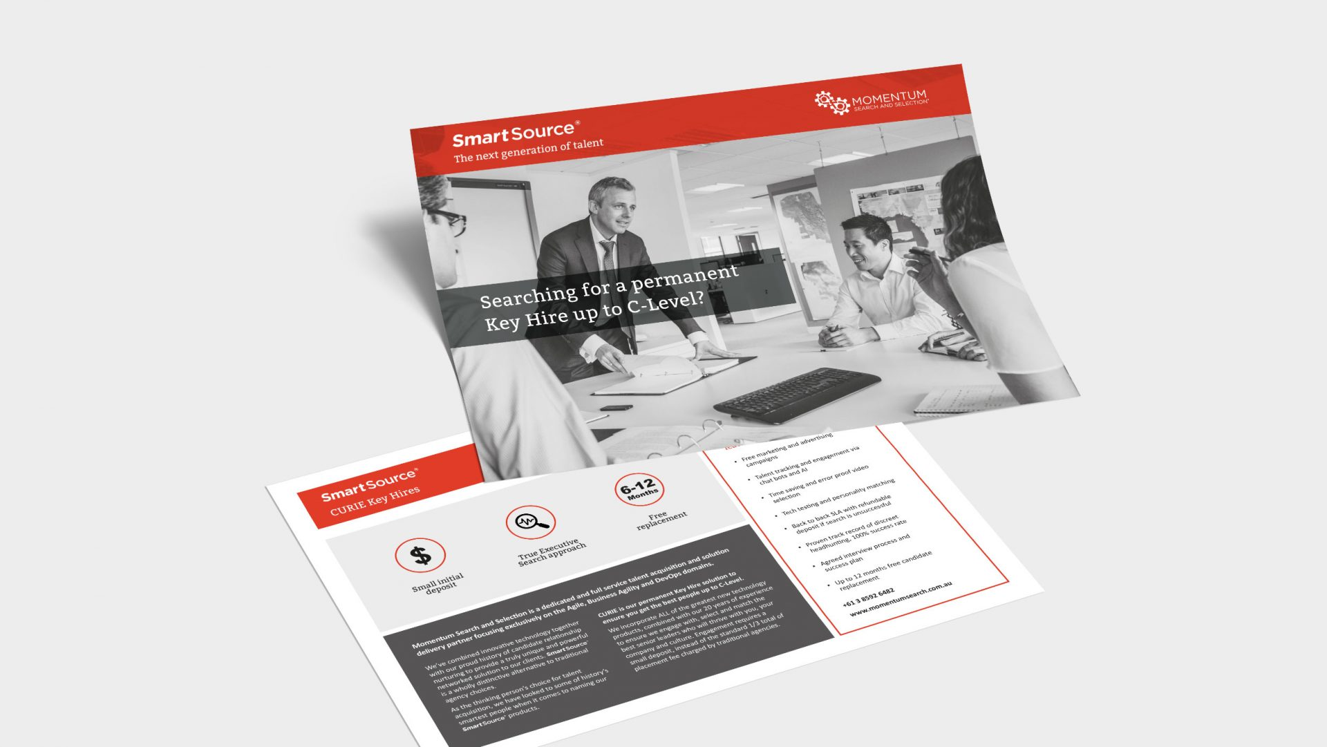 Momentum Search and Selection smart source brochures