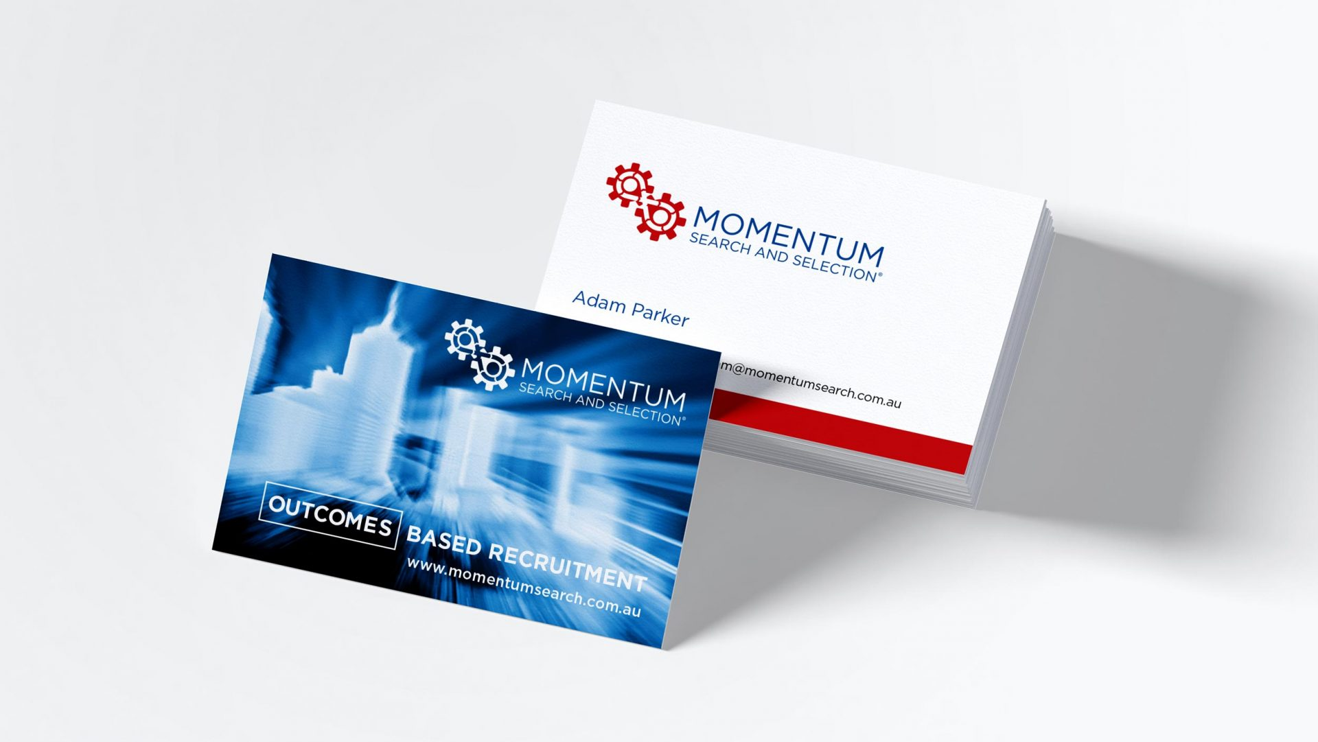 Momentum Search and Selection business cards