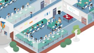 Classroom illustration for Maths Pathway featured in their impact report