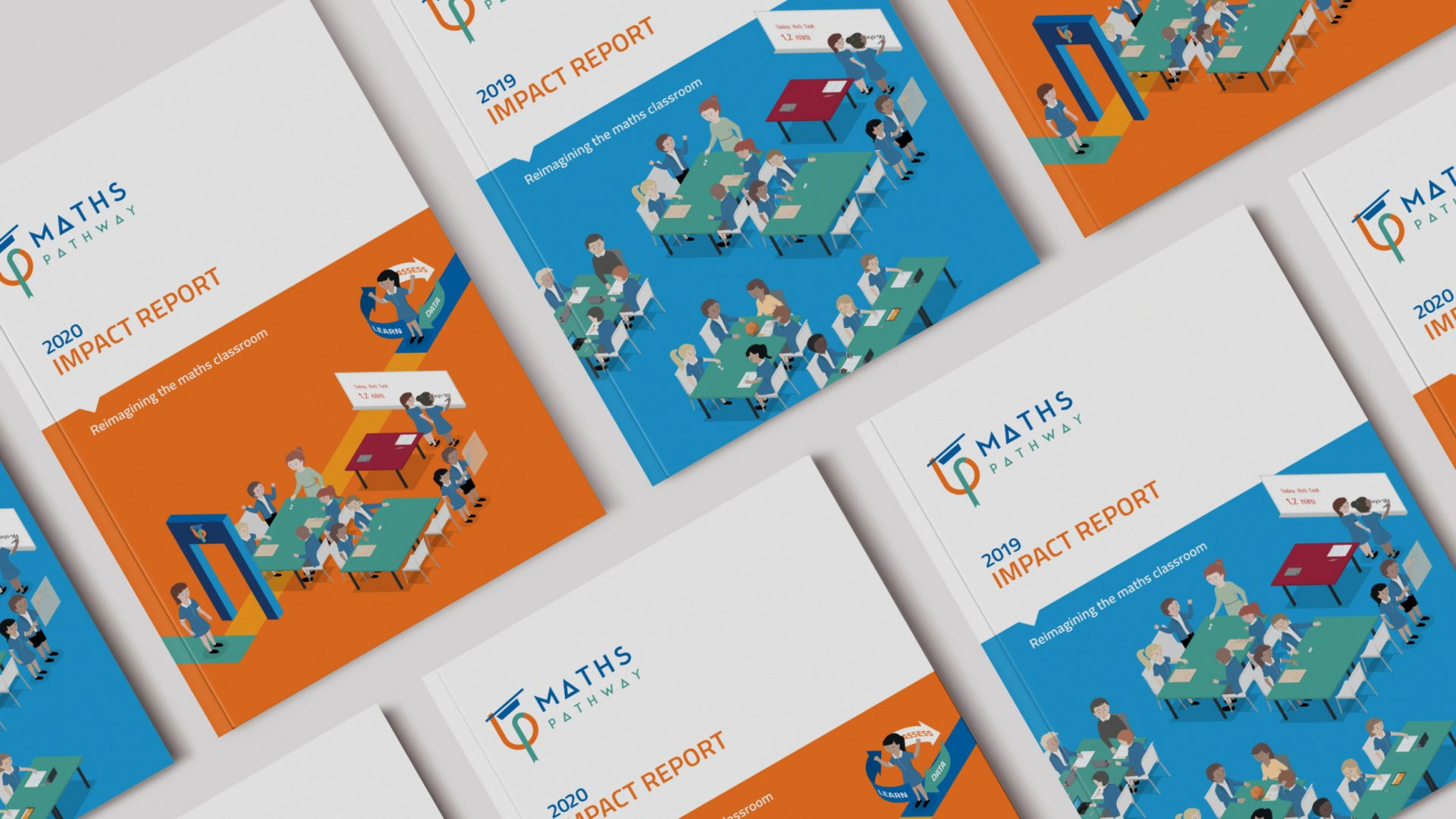 2019 and 2020 Impact Report covers for Maths Pathway
