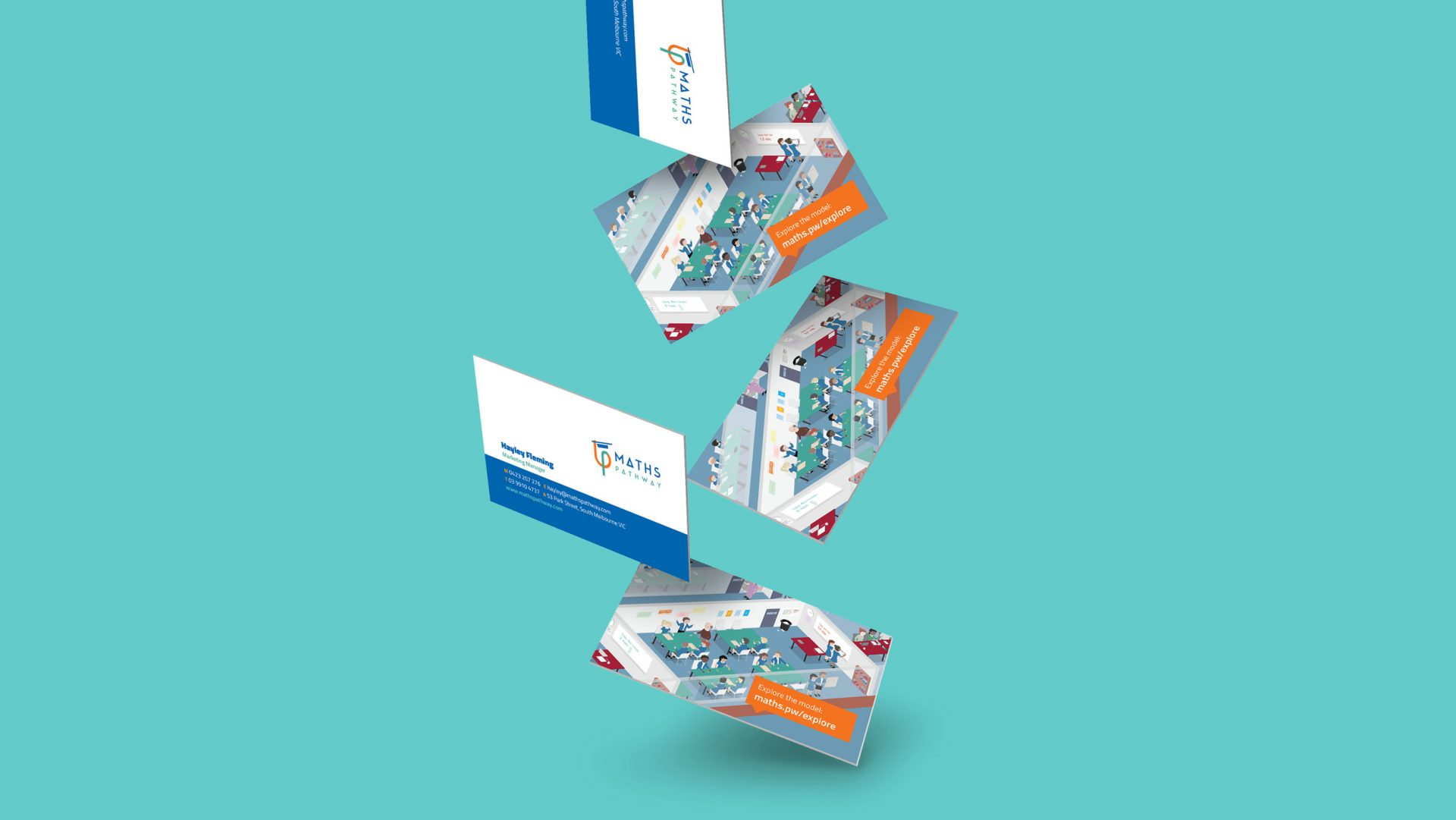 Business cards for Math Pathway