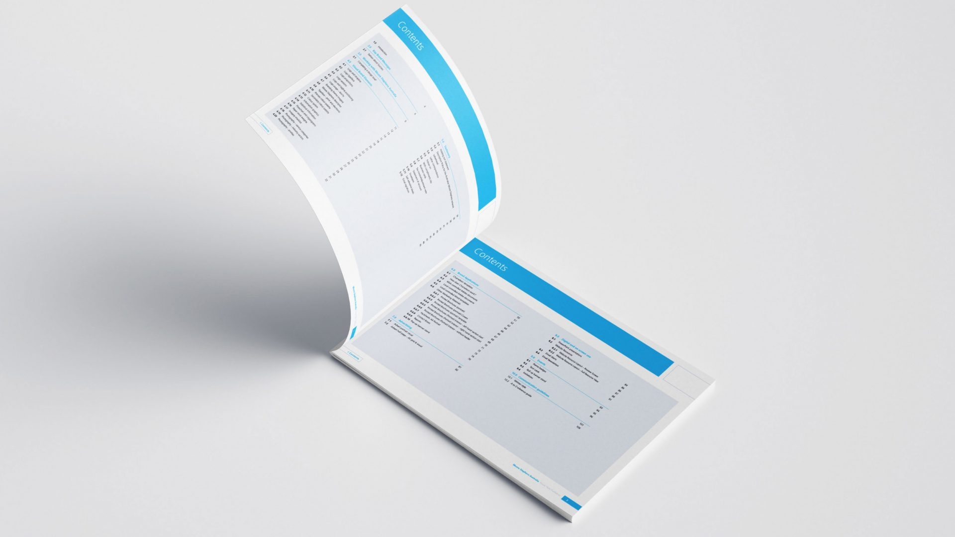 Moore Stephens Brand guidelines contents page