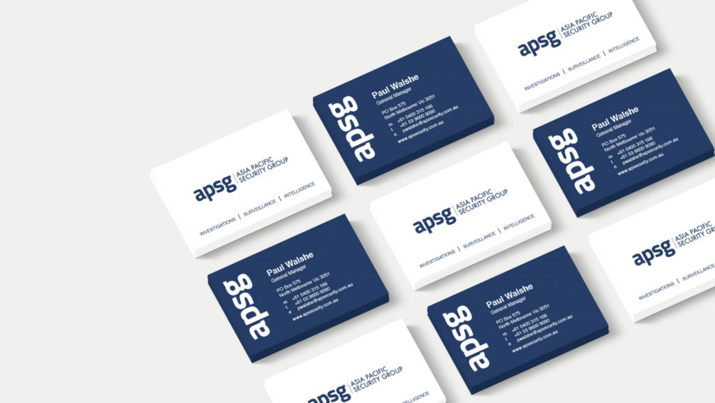 Business cards for APSG