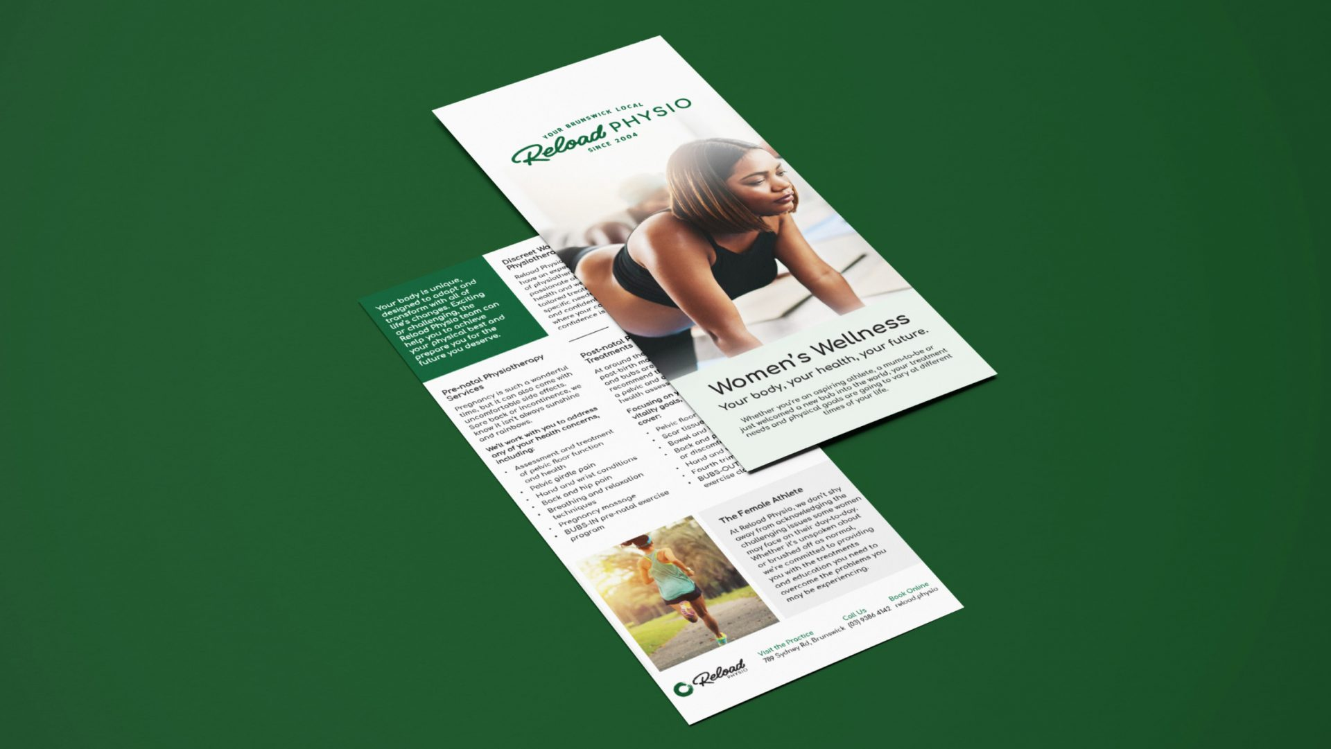 Womens Wellness flyer for Reload Physio Gift voucher design for Reload Physio