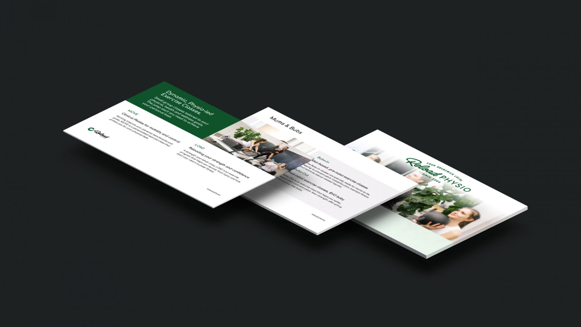 Powerpoint template design for Reload Physio