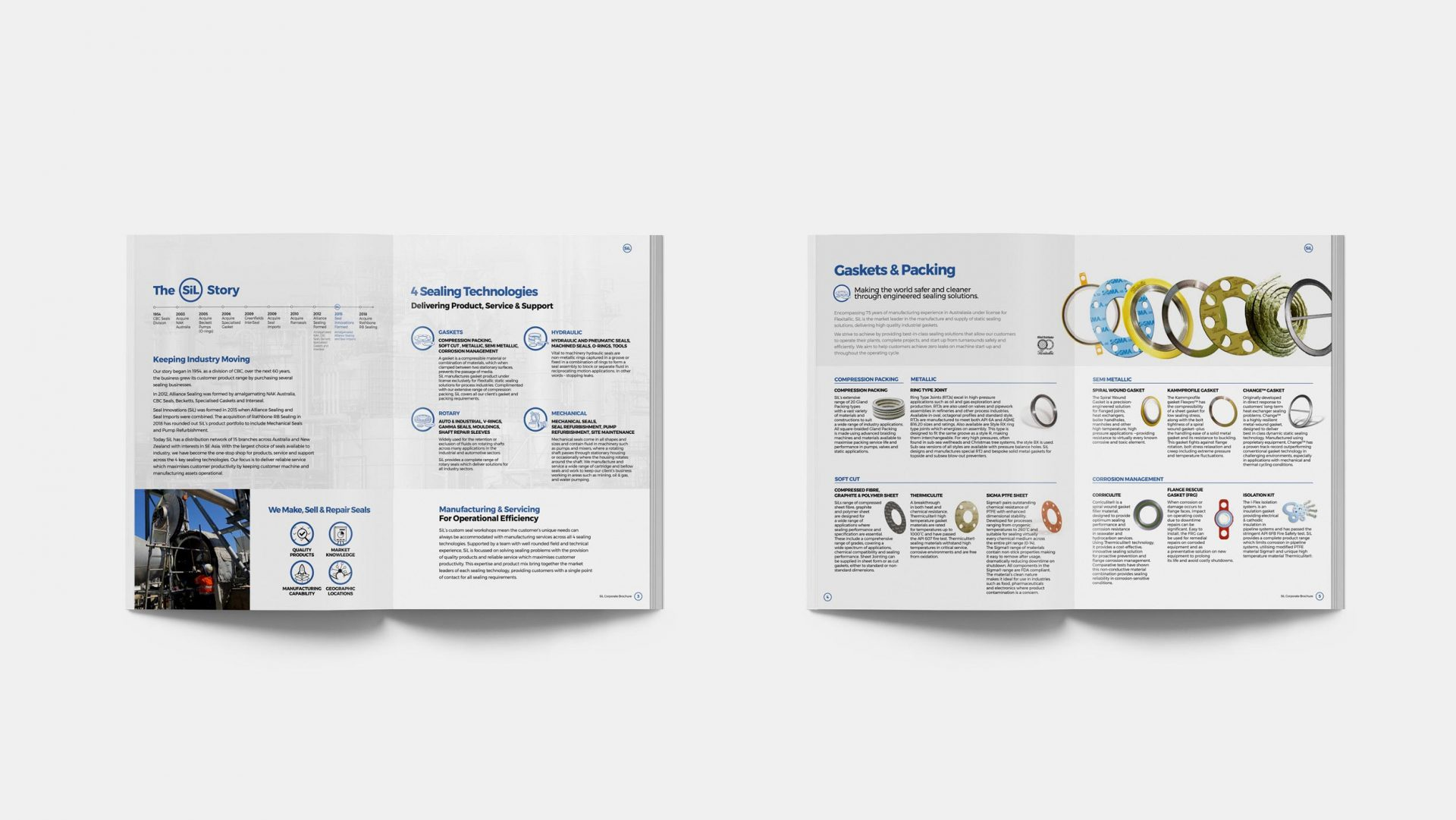 Brochure Spreads for Seal Innovations