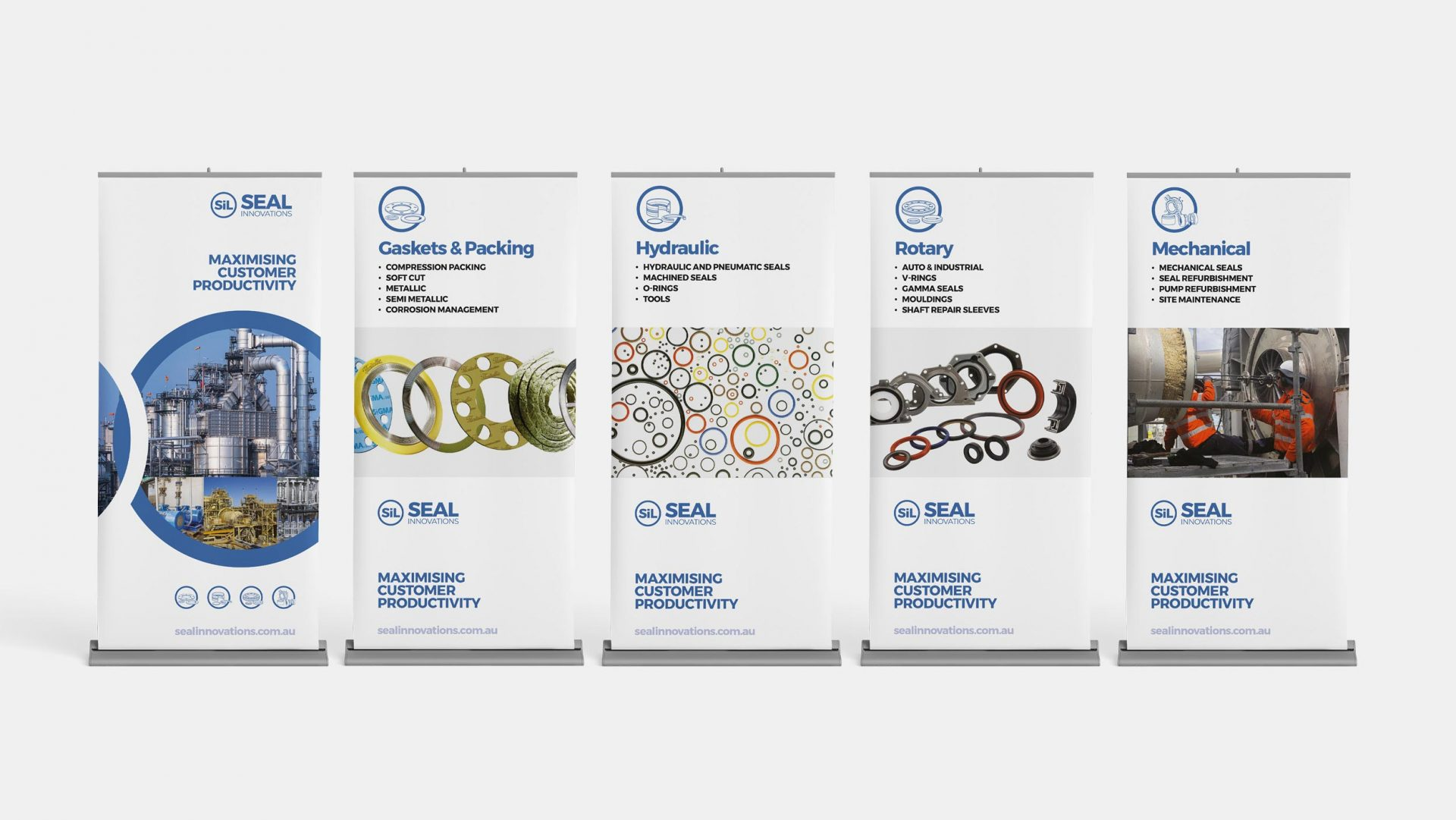 Tradeshow banners for Seal Innovations